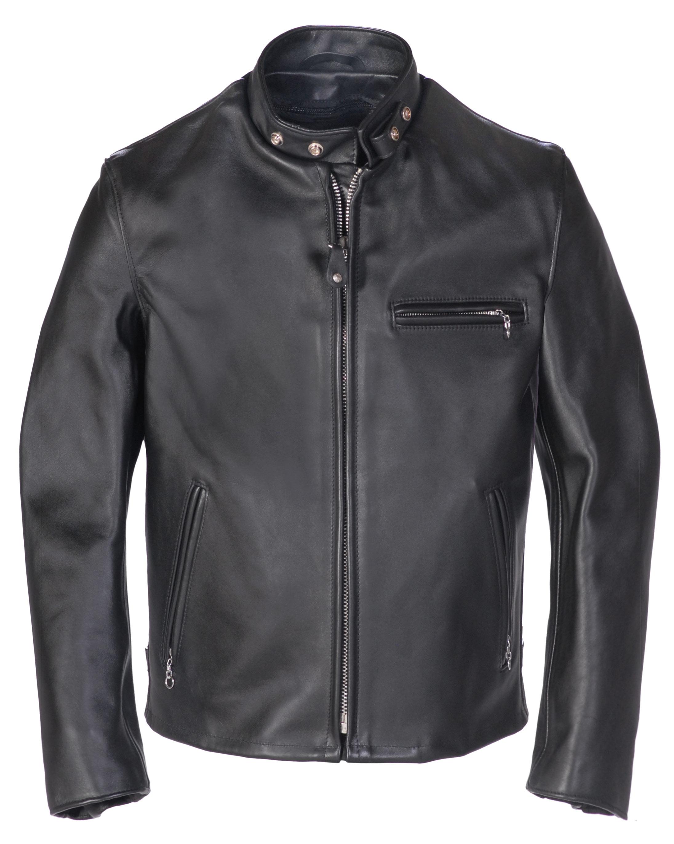 Schott N.Y.C. 641 Single Rider Steerhide Leather Motorcycle Jacket
