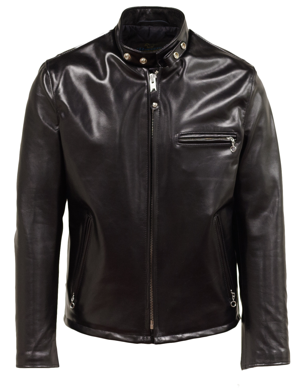 Schott N.Y.C. 641HH Classic Schott Racer Black Leather Motorcycle Jacket in Horsehide