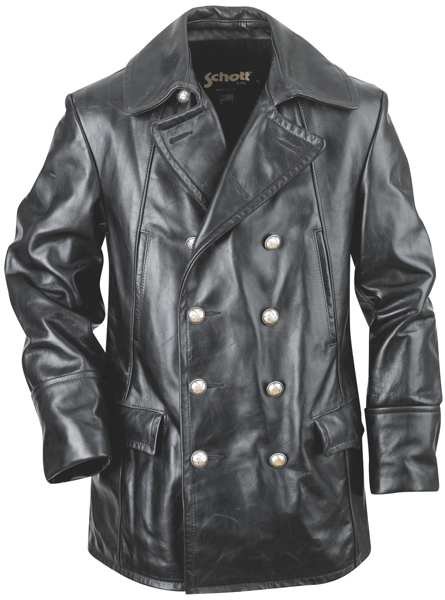 Schott N.Y.C. 650 Double Breasted Leather Jacket