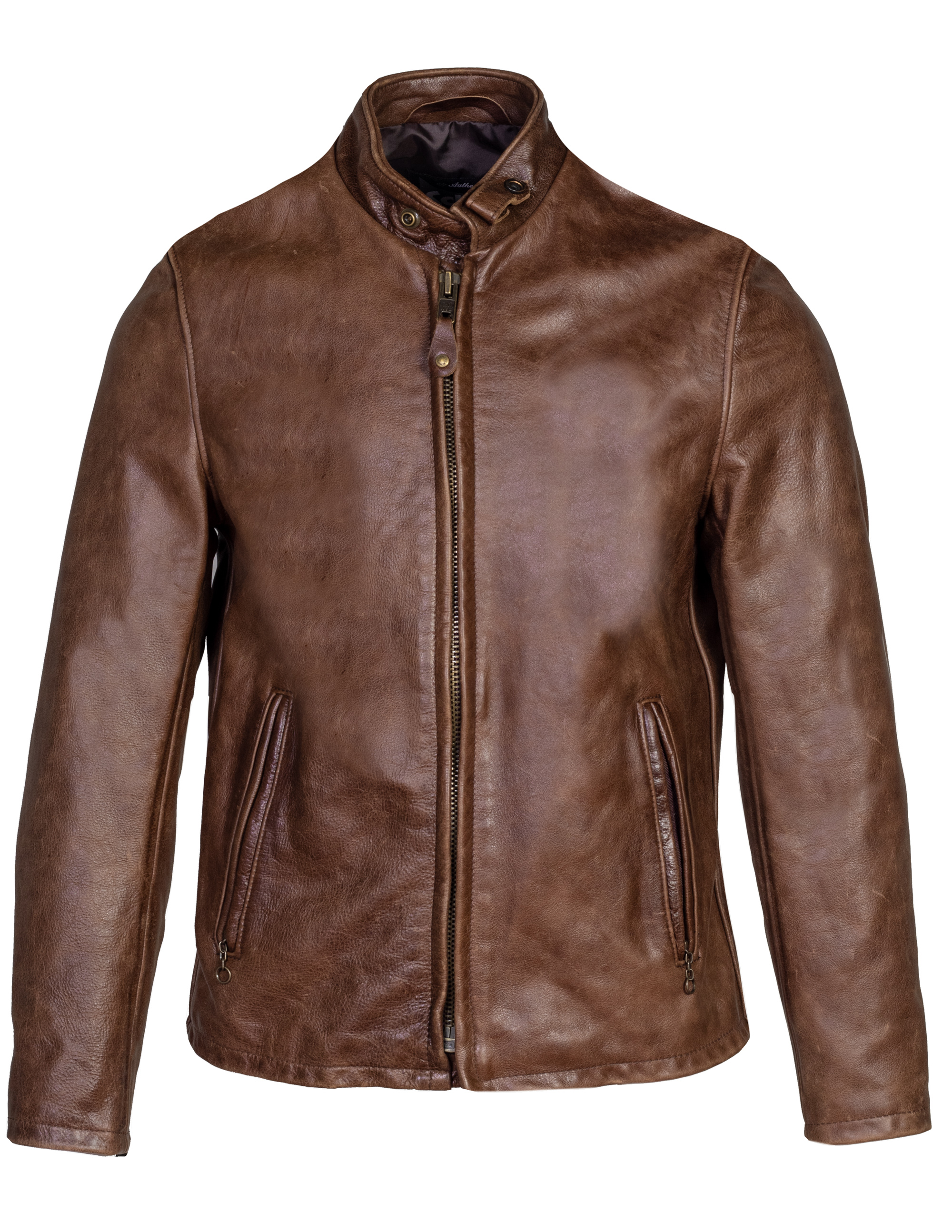 Schott N.Y.C. 654VN Vintaged Cowhide Café Racer Leather Jacket