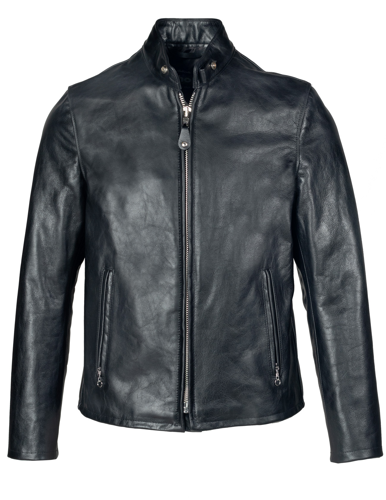 Schott N.Y.C. 654 Cowhide Casual Racer Leather Jacket