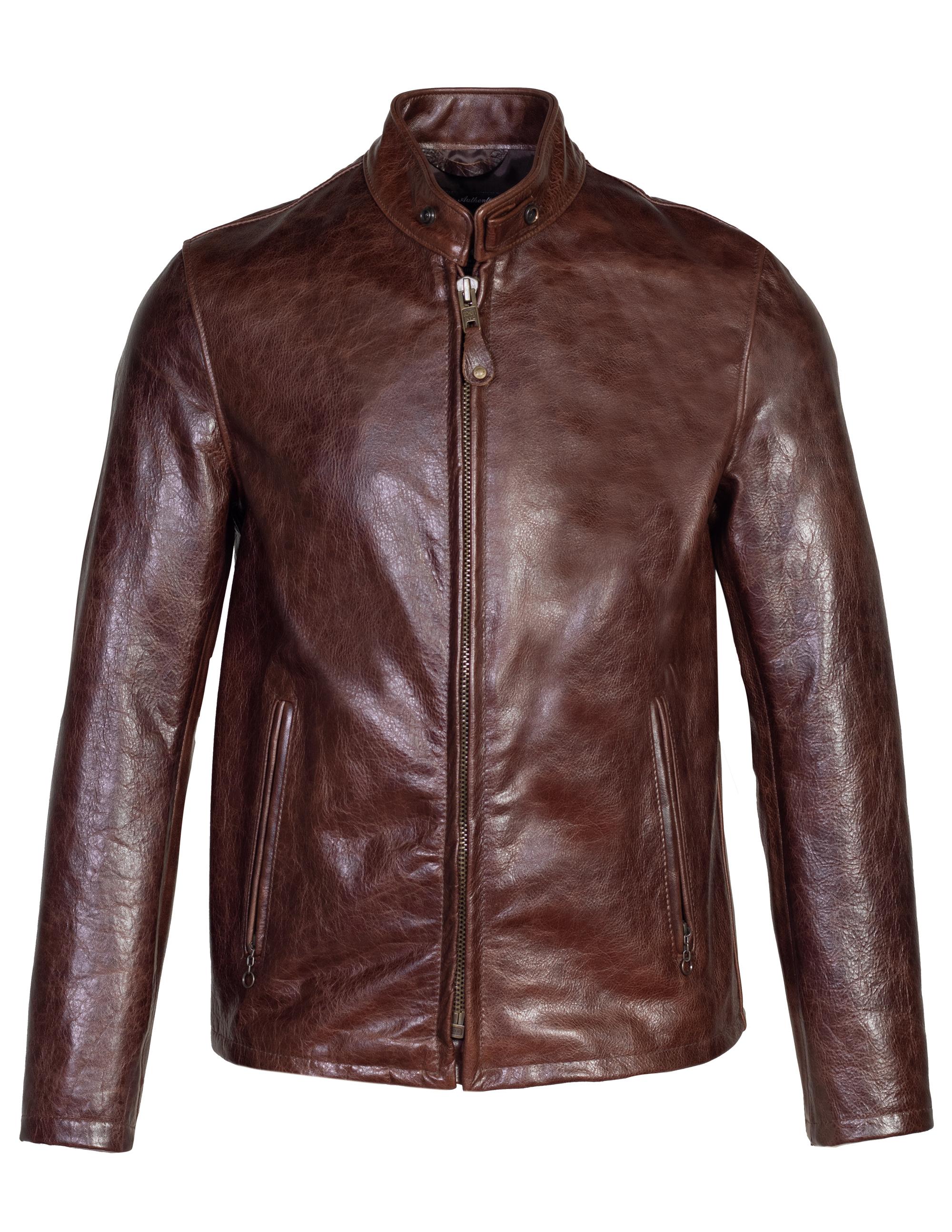 Schott N.Y.C. 654 Cowhide Casual Racer Leather Jacket