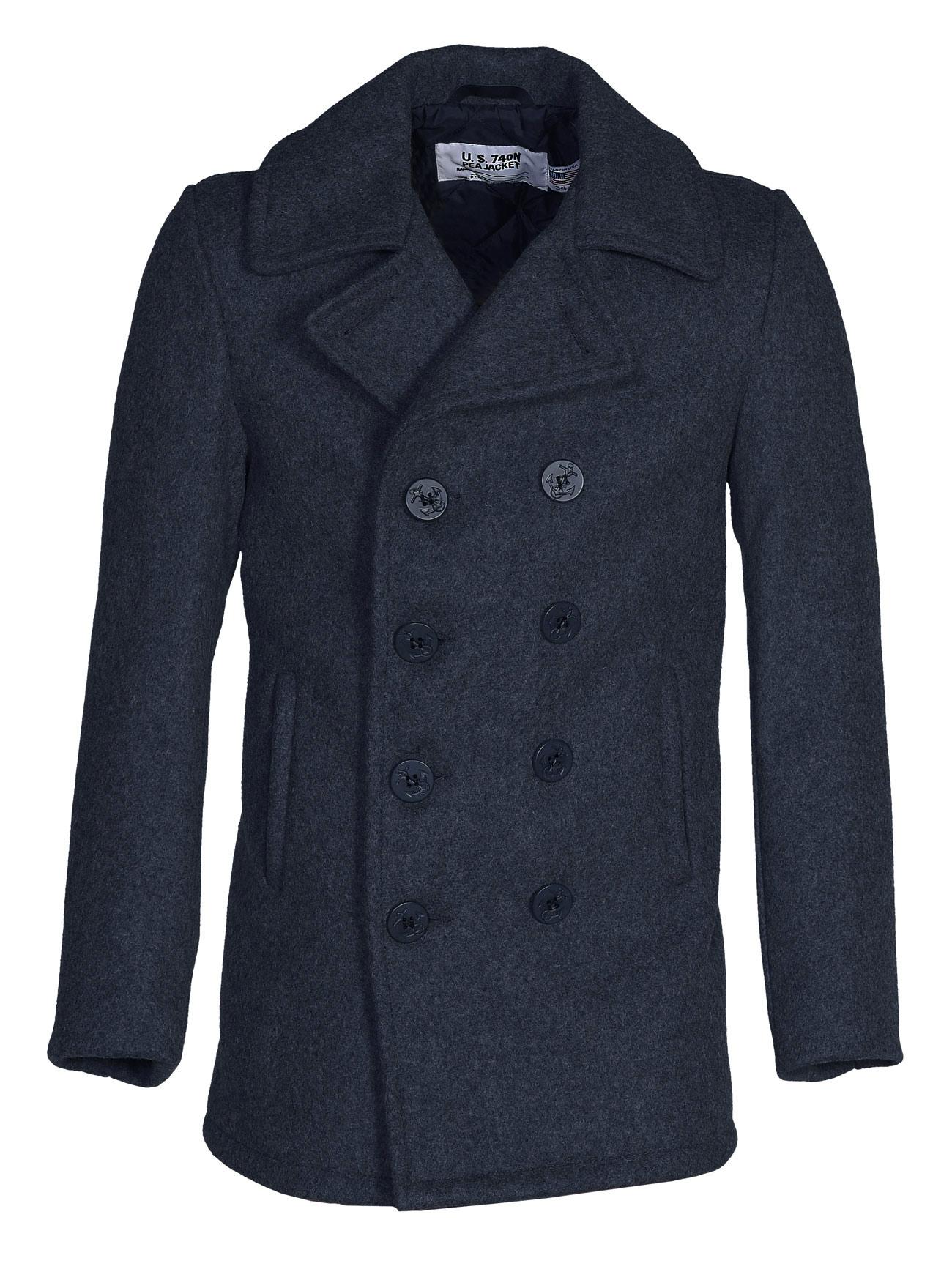 N Original Pea Schott Coat The C740 Navy Y lFcuKJT31
