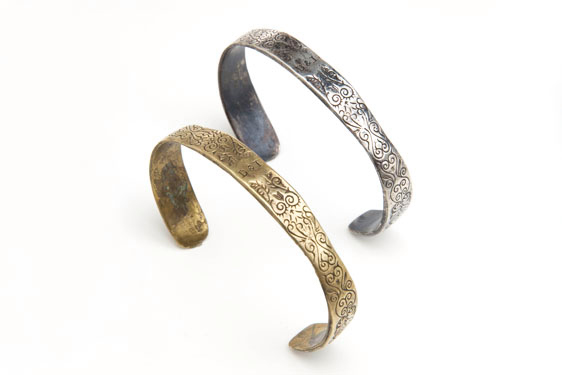 Digby & Iona CUFF1 Digby & Iona Black Spot Cuff in Bronze