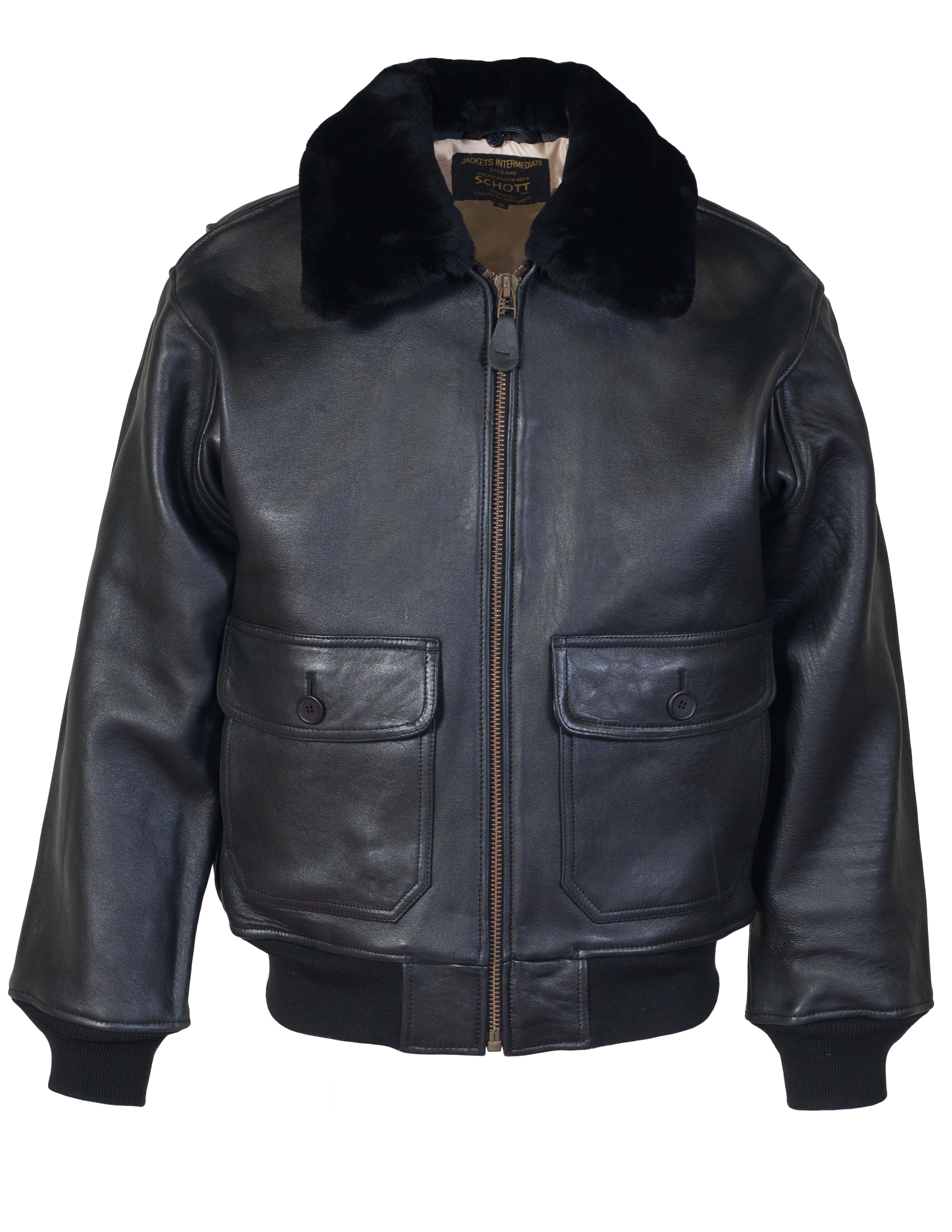 Schott N.Y.C. G1S G-1 Leather Flight Jacket