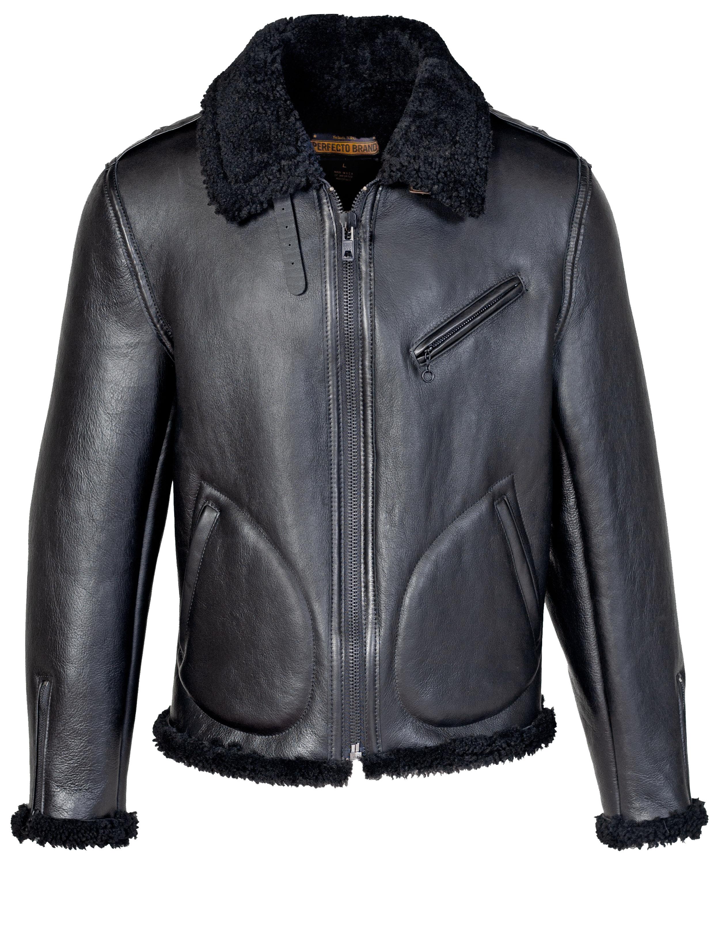 Perfecto® Brand P216S Men's Genuine Sheepskin Biker Jacket