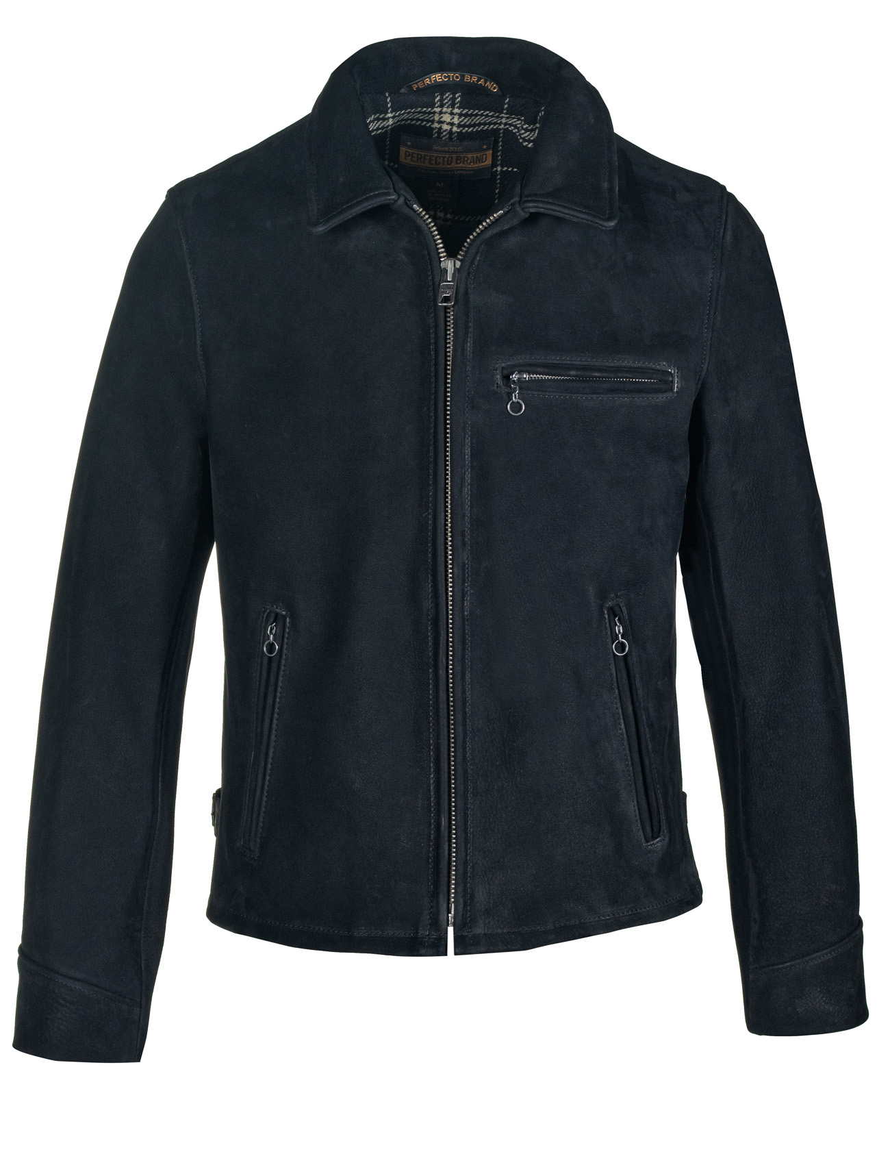 Perfecto® Brand P673 Storm - Heavyweight Oiled Nubuck Leather Biker Jacket