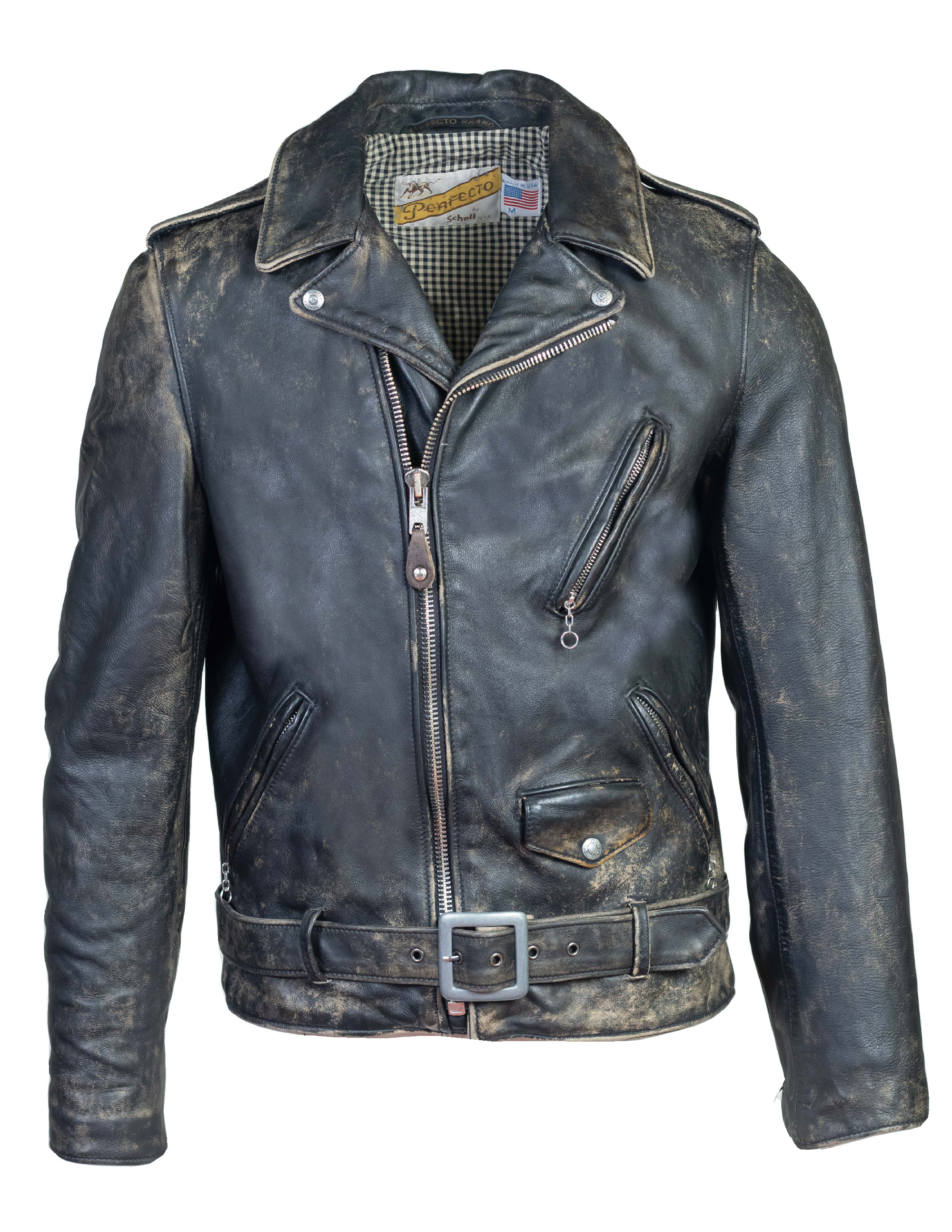 "Perfecto® Brand PER72 Hand Vintaged Cowhide Perfecto® ""Pharoah's"" Jacket"