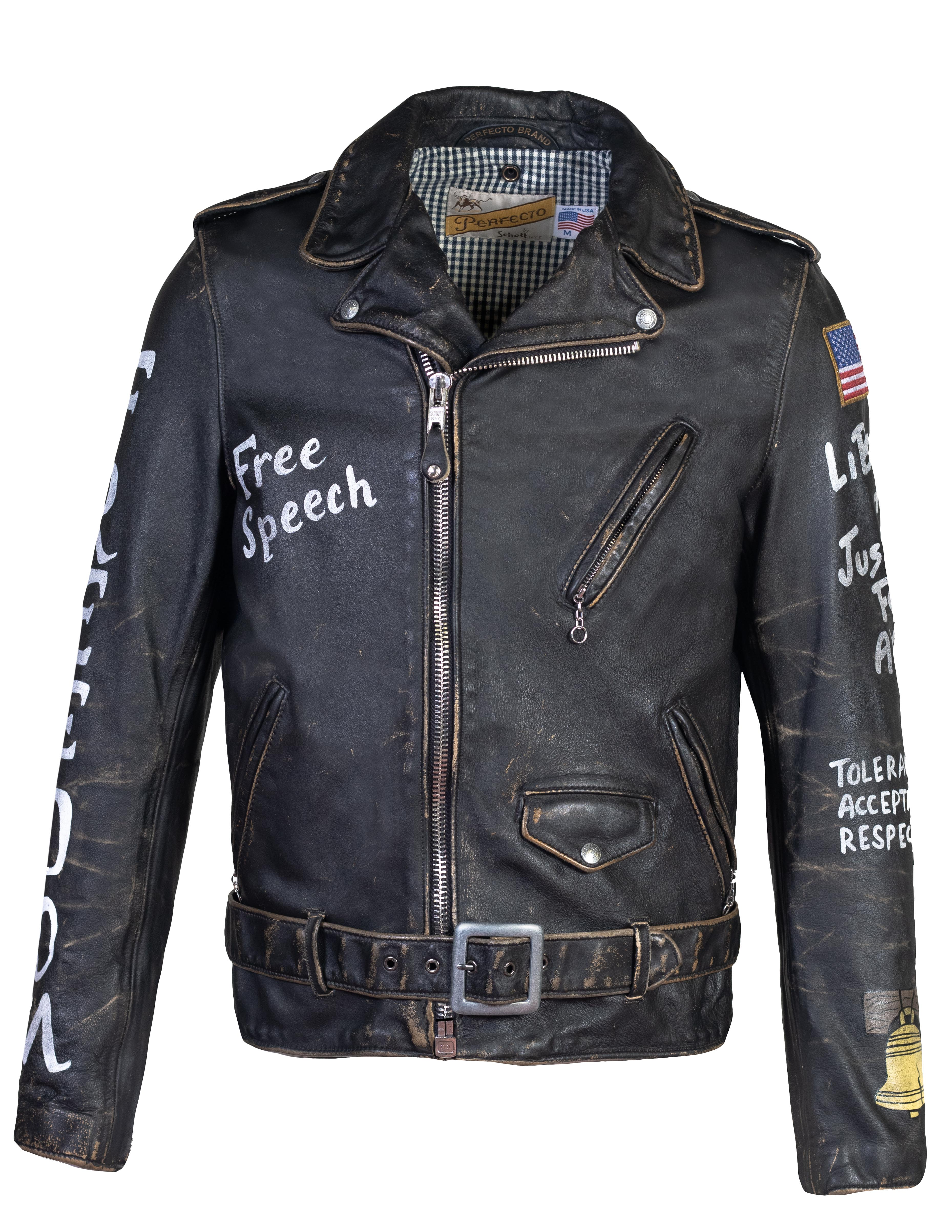 "Perfecto® Brand PER74 Hand Vintaged Cowhide ""Free Speech"" Perfecto® Jacket"